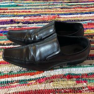 Pointed Toe Dress Shoe Black Men 10.5 Loafer